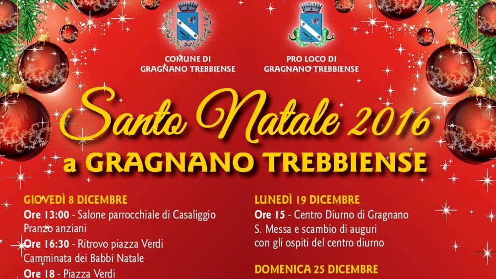 Santo Natale 2016 a Gragnano Trebbiense - IlPiacenza