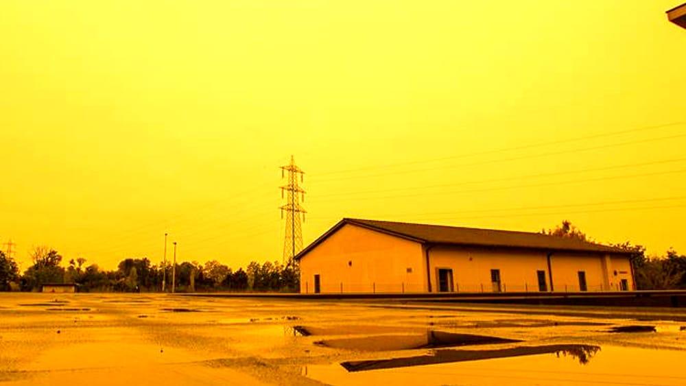 Arancione cielo sabbia deserto a piacenza oggi 14 ottobre 2016 - Porta del cielo piacenza ...