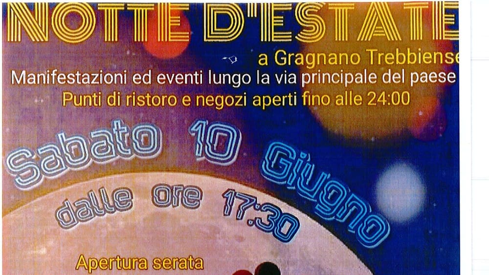Gragnano Trebbiense, Notte d'estate 2017 - IlPiacenza